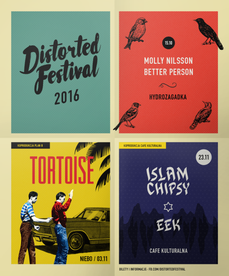 Distorted Festival / plakat: Łukasz Rychlicki